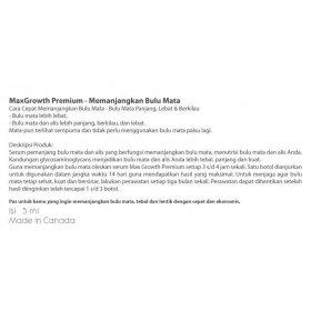MaxGrowth Premium - Memanjangkan Bulu Mata