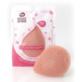All Natural Fiber French Pink Clay Facial Sponge (Light Pink)