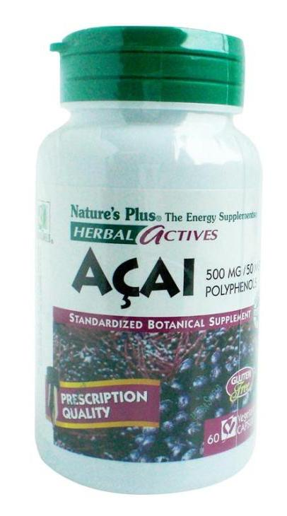 Nature's Plus - Acai 500 MG (60 Vegecaps) | Slimming Capsule